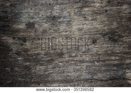 Wood Texture With Natural Wood Pattern For Design And Decoration. Dark Brown Wood Background. Natura