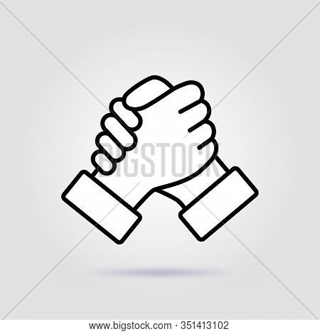 Soul Brother Handshake Thumb Clasp Homie With A Soft Shadow