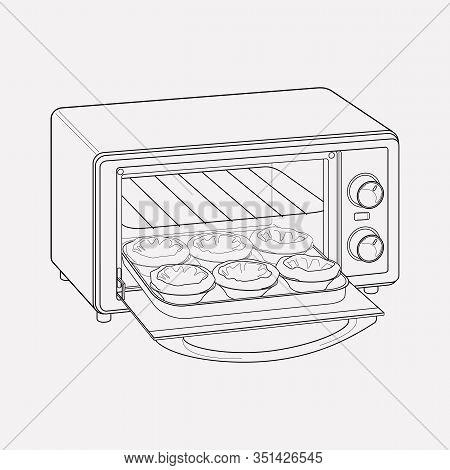 Baking Machine Icon Line Element. Vector Illustration Of Baking Machine Icon Line Isolated On Clean