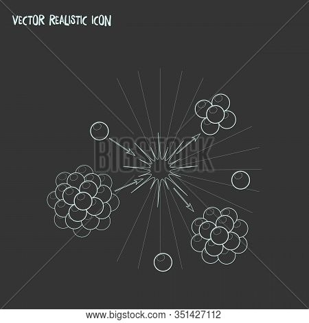 Nuclear Physics Icon Line Element. Vector Illustration Of Nuclear Physics Icon Line Isolated On Clea
