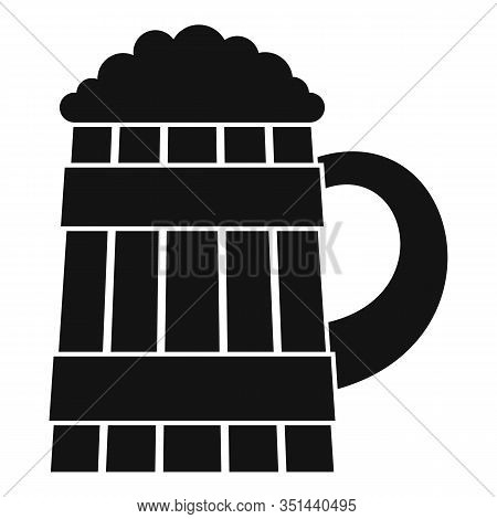 Pint Kvass Icon. Simple Illustration Of Pint Kvass Vector Icon For Web Design Isolated On White Back
