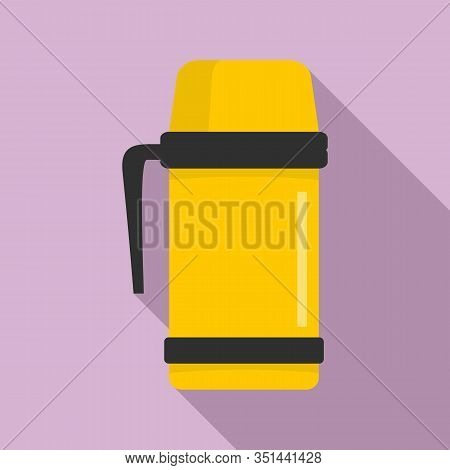 Vacuum Insulated Cup Icon. Flat Illustration Of Vacuum Insulated Cup Vector Icon For Web Design