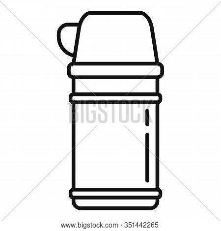 Vacuum Insulated Container Icon. Outline Vacuum Insulated Container Vector Icon For Web Design Isola