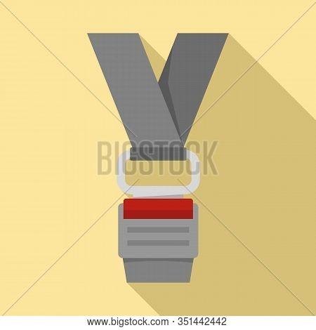 Prevention Seatbelt Icon. Flat Illustration Of Prevention Seatbelt Vector Icon For Web Design