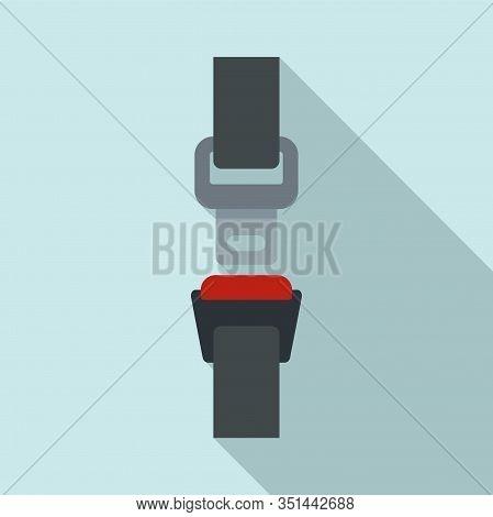 Drive Seatbelt Icon. Flat Illustration Of Drive Seatbelt Vector Icon For Web Design