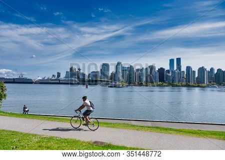 Vancouver - May 05 2019: Downtown Vancouver, Canada.view Of Downtown Vancouver, From Stanley Park, M