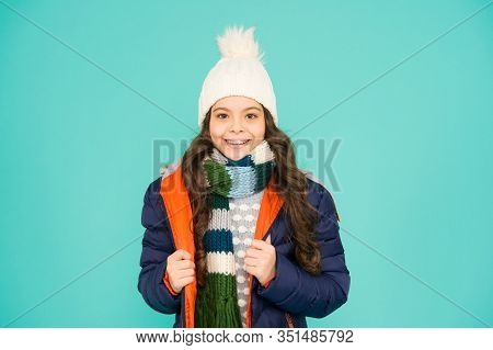 Straight From Fashion Week Runway. Happy Girl Enjoy Wearing Casual Style. Fashion Trend For Winter.
