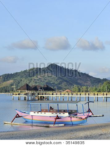 indonesian harbor scene