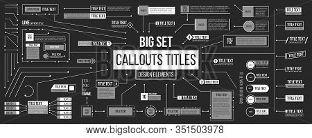 Creative Vector Illustration Of Callouts Titles, Lower Third For Presentation Isolated On Background