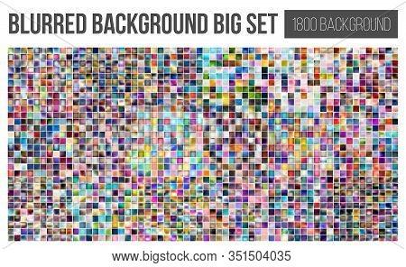 Creative Vector Illustration Of Background Gradient, Blur Big Set. Art Design Colorful Background Co