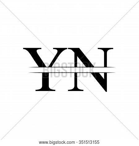 Initial YN Logo Design Vector Template. Creative Letter YN Business Logo Vector Illustration