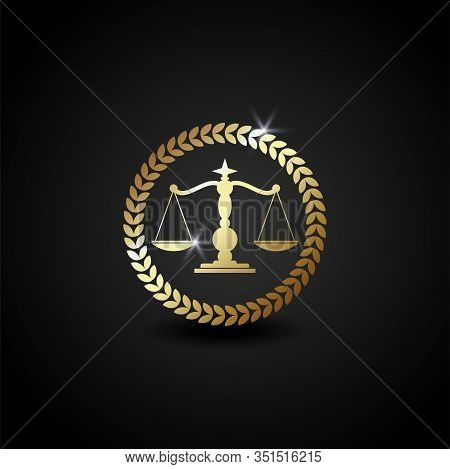 Law Firm Office Logo. Luxury Scale Logo. Justice Scale Icon Vector. Scale Eps. Scale Logo Template.