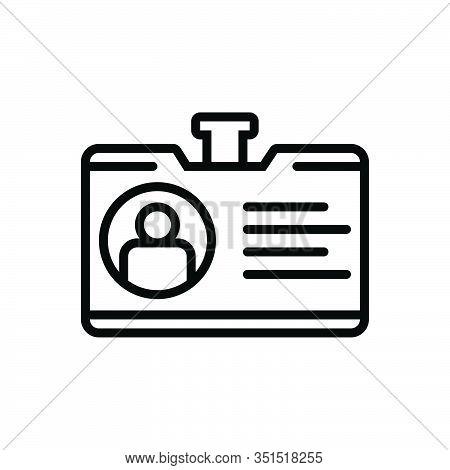 Black Line Icon For Identity-on-personal-image Portfolio Expansion Elaboration Document Recruitment