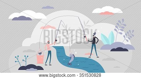 Government Unfair Taxation Of The Poor And Middle Class, Flat Tiny Persons Vector Illustration Conce
