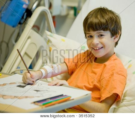 Little Boy In Hospital