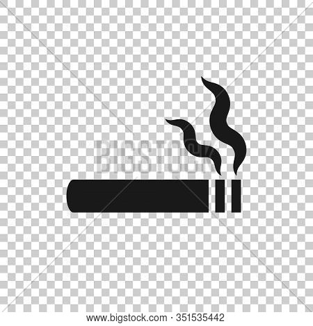 Cigarette Icon In Flat Style. Smoke Vector Illustration On White Isolated Background. Nicotine Busin