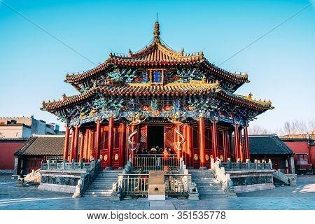 Shenyang, China January 1 2019 : Shenyang Imperial Palace (mukden Palace) Was The Former Imperial Pa