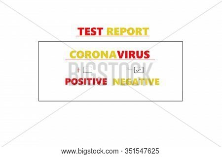 Abstract Background Of Coronavirus, Coronavirus Negative Medical Blood Test Report Result, China Chi