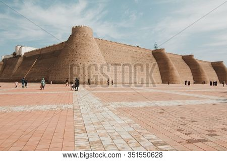 Medieval Eastern Fortress Ark, Bukhara And Square