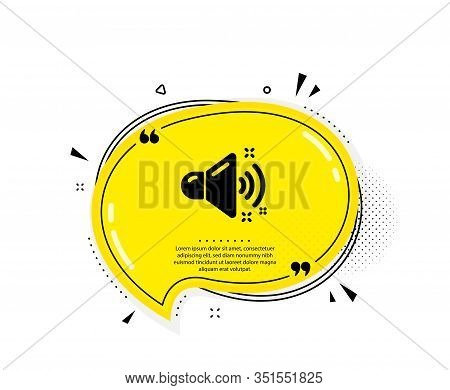 Loud Sound Icon. Quote Speech Bubble. Music Sound Sign. Musical Device Symbol. Quotation Marks. Clas