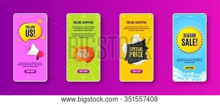 Special Price Badge. Phone Screen Banner. Discount Banner Shape. Sale Coupon Bubble Icon. Sale Banne