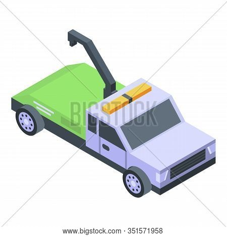 Tow Truck Icon. Isometric Of Tow Truck Vector Icon For Web Design Isolated On White Background