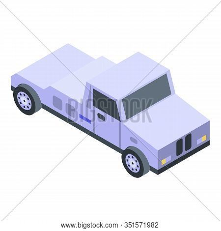 Tow Truck Car Icon. Isometric Of Tow Truck Car Vector Icon For Web Design Isolated On White Backgrou