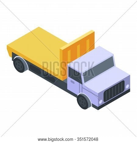 Heavy Tow Truck Icon. Isometric Of Heavy Tow Truck Vector Icon For Web Design Isolated On White Back