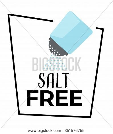 No Salt Isolated Icon, Shaker And Salty Powder, Dietary Nutrition