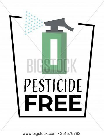 Organic Food, Pesticide Free Product Isolated Icon