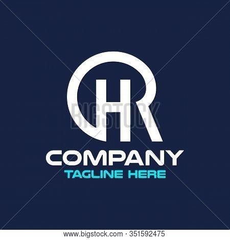 Modern Letters D Or H Or R Logo.vector Illustration.