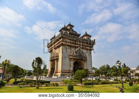 Patuxay Monument Of Vientiane, Laos