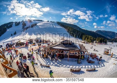 Ruzomberok, Slovakia - February 15: Ski Resort Malino Brdo On February 15, 2020 In Ruzomberok
