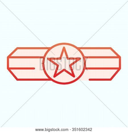 Army Epaulet Flat Icon. Military Rank With One Star Vector Illustration Isolated On White. Army Badg