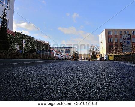 Chomutov, Czech Republic - February 11, 2020: Industrial Areal On Prazska Street At Morning