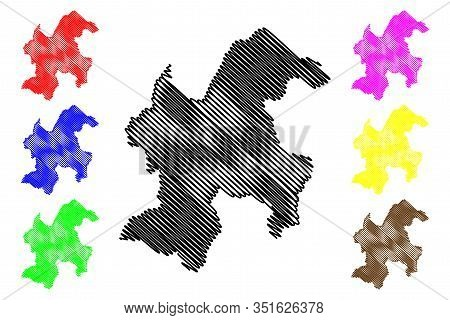 Bor District (republic Of Serbia, Districts In Southern And Eastern Serbia) Map Vector Illustration,