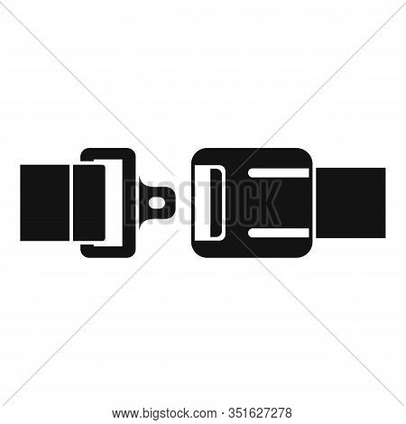 Safety Seatbelt Icon. Simple Illustration Of Safety Seatbelt Vector Icon For Web Design Isolated On