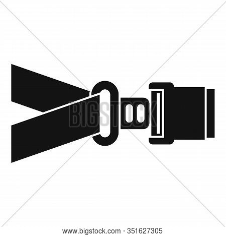 Safe Seatbelt Icon. Simple Illustration Of Safe Seatbelt Vector Icon For Web Design Isolated On Whit