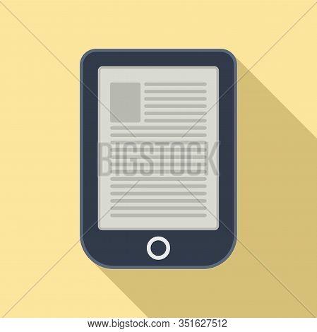 Digital Ebook Icon. Flat Illustration Of Digital Ebook Vector Icon For Web Design