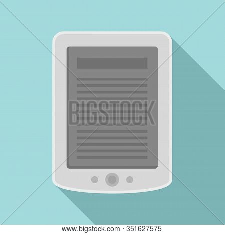 Ebook Tablet Icon. Flat Illustration Of Ebook Tablet Vector Icon For Web Design
