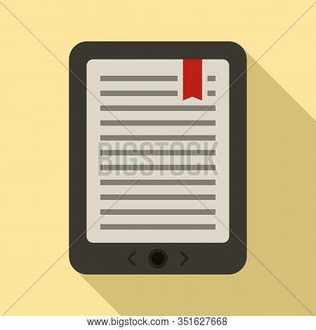Mobile Ebook Icon. Flat Illustration Of Mobile Ebook Vector Icon For Web Design