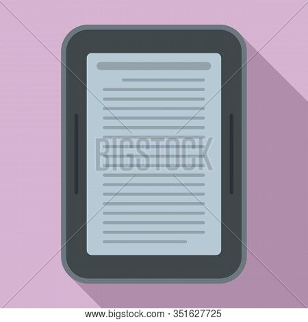 Ebook Device Icon. Flat Illustration Of Ebook Device Vector Icon For Web Design