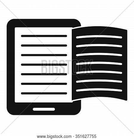 Magazine Ebook Icon. Simple Illustration Of Magazine Ebook Vector Icon For Web Design Isolated On Wh