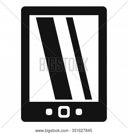 Cloud Ebook Icon. Simple Illustration Of Cloud Ebook Vector Icon For Web Design Isolated On White Ba