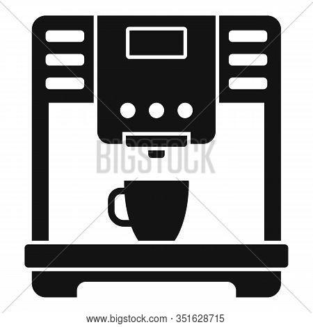 Americano Coffee Machine Icon. Simple Illustration Of Americano Coffee Machine Vector Icon For Web D
