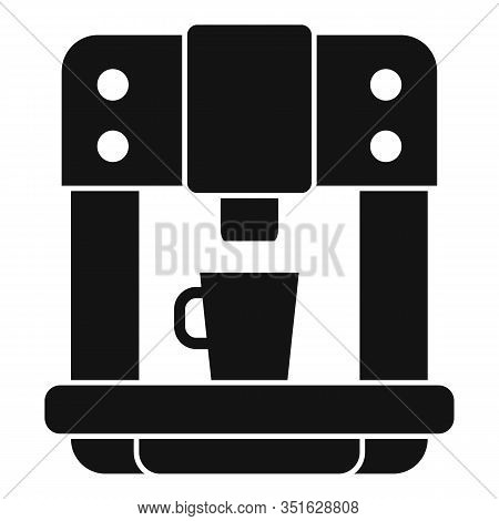 Commercial Coffee Machine Icon. Simple Illustration Of Commercial Coffee Machine Vector Icon For Web