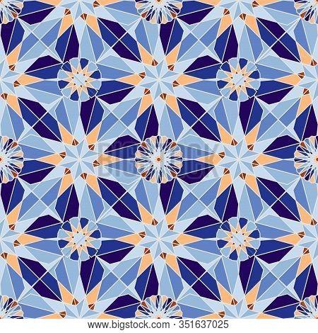 Kaleidoscope, Geometric Ethnic Pattern, Seamless Vector Illustration