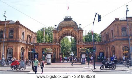 Copenhagen, Denmark - Jul 05th, 2015: Entrance To Tivoli Gardens Amusement Park And Pleasure Garden