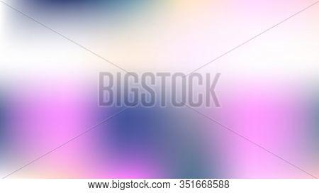 Unfocused Mesh Vector Background, Hologram Bright Overlay. Dreamy Pink, Purple, Turquoise Glitch Fem