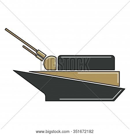 Isolated Warship Icon. War Icon - Vector Illustration